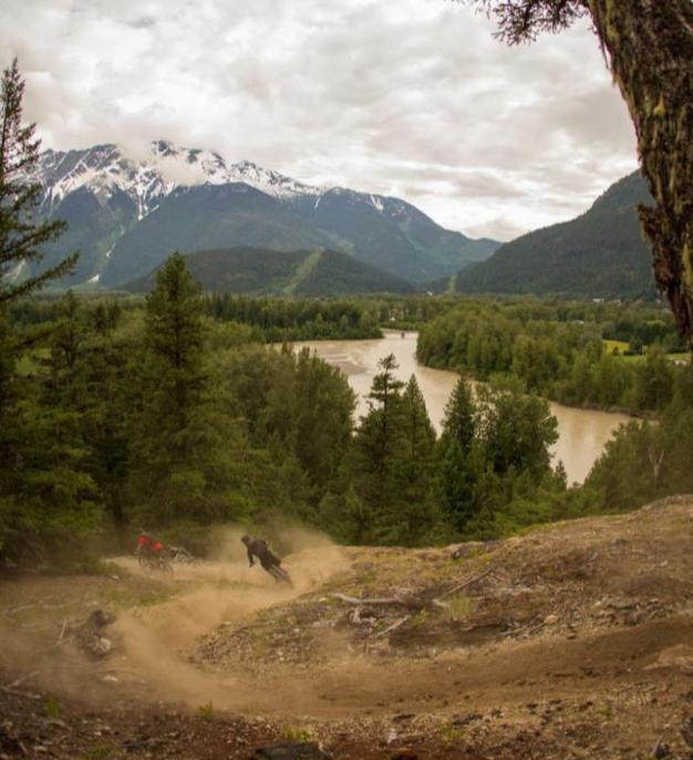 Der schöne Teil des Jobs: Trails fahren...