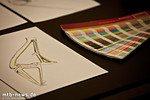 Rahmenskizzen und Farbfächer