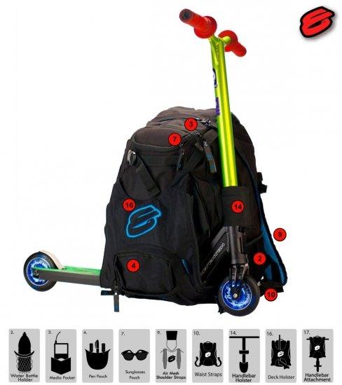 elyts team rucksack bag pack stunt scooter freestyle. Black Bedroom Furniture Sets. Home Design Ideas