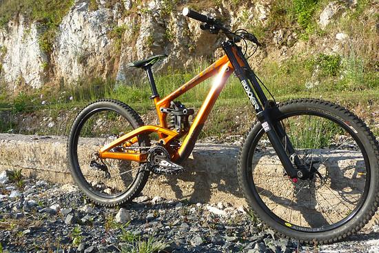 Mein orangener Racer, ein 2013er Scott Gambler in meiner Lieblingsfarbe Orange